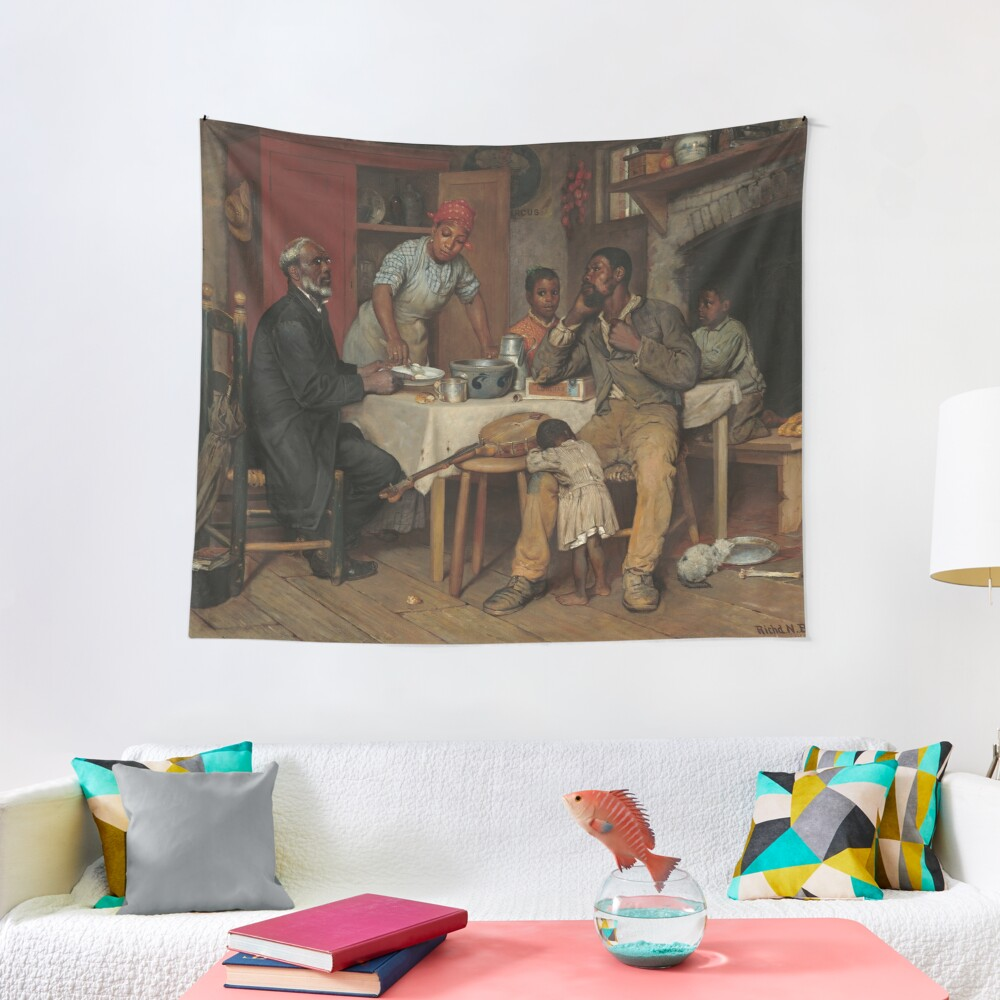 A Pastoral Visit Oil Painting by Richard Norris Brooke Tapestry