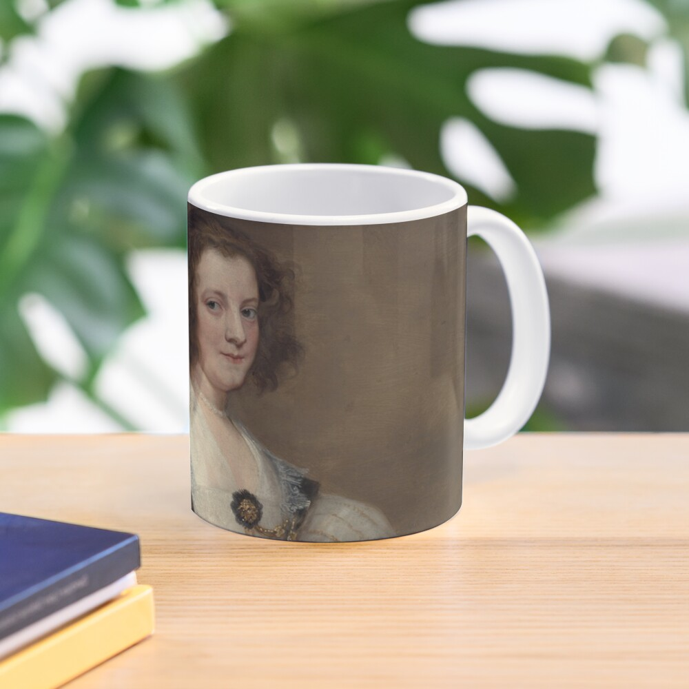 Lady with a Fan Oil Painting by Sir Anthony van Dyck Mug