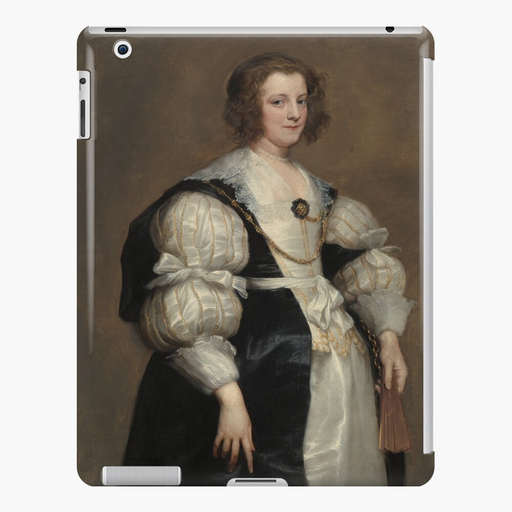 Lady with a Fan Oil Painting by Sir Anthony van Dyck iPad Case & Skin