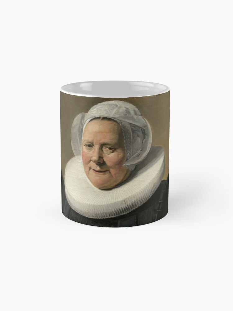 Alternate view of Portrait of an Elderly Oil Painting Lady by Frans Hals Mug