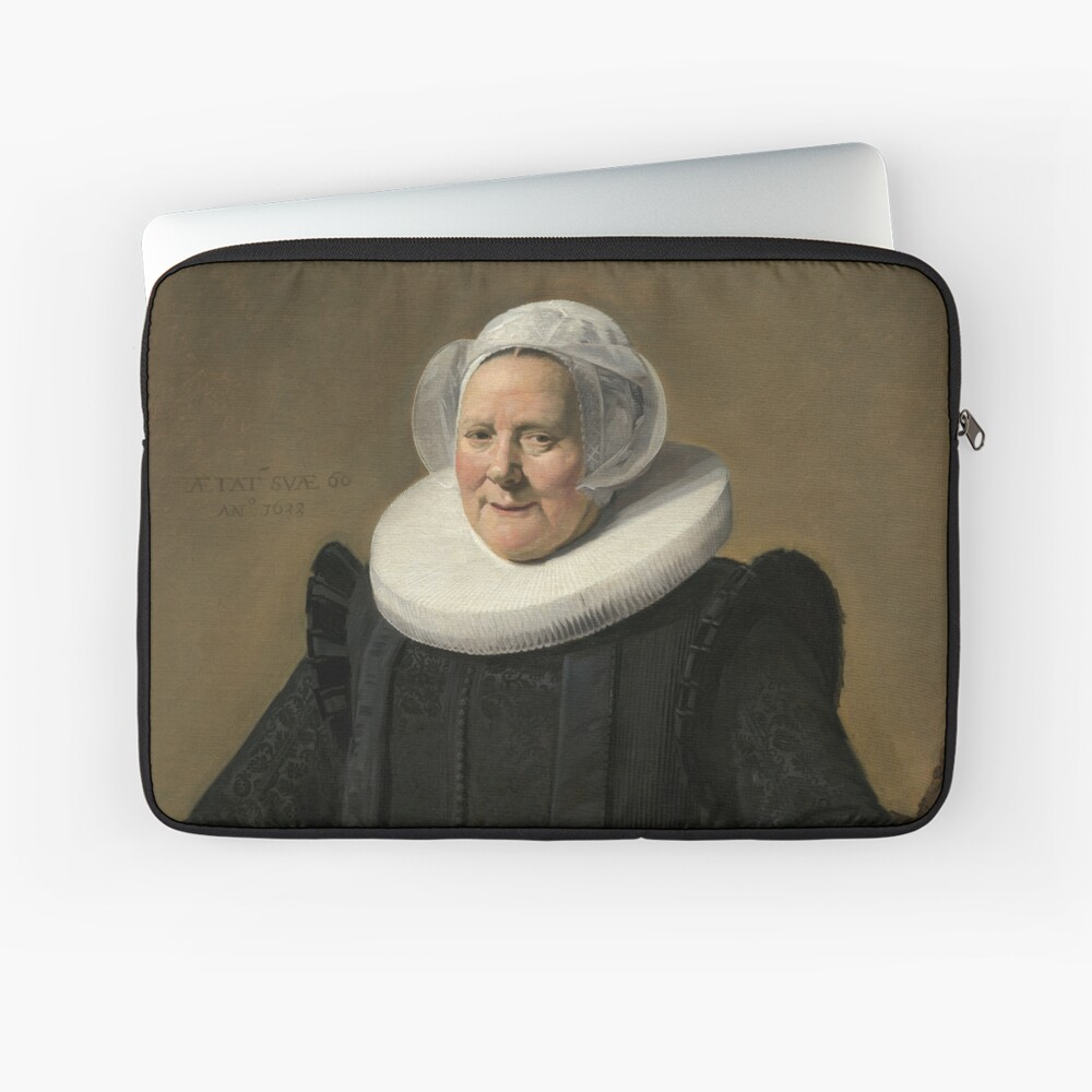 Portrait of an Elderly Oil Painting Lady by Frans Hals Laptop Sleeve