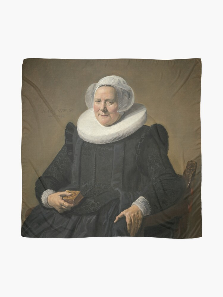 Alternate view of Portrait of an Elderly Oil Painting Lady by Frans Hals Scarf