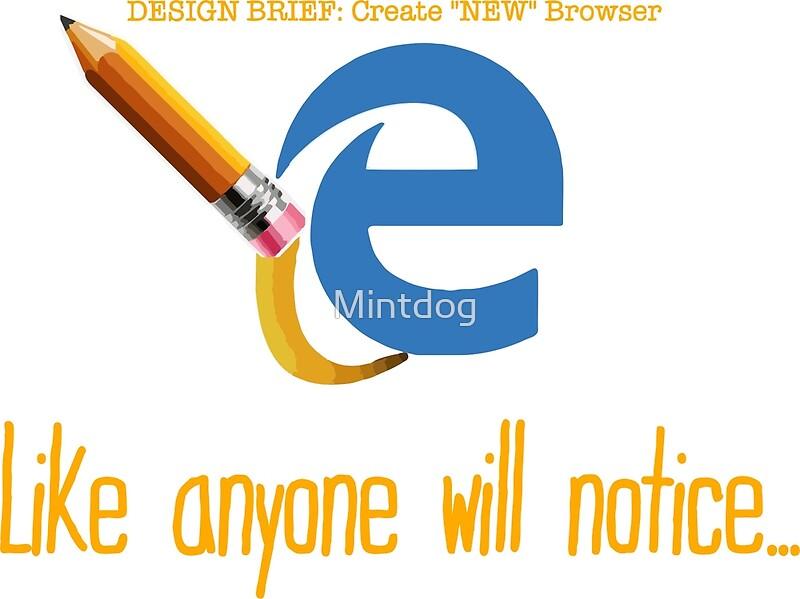 Microsoft edge browser funny by mintdog