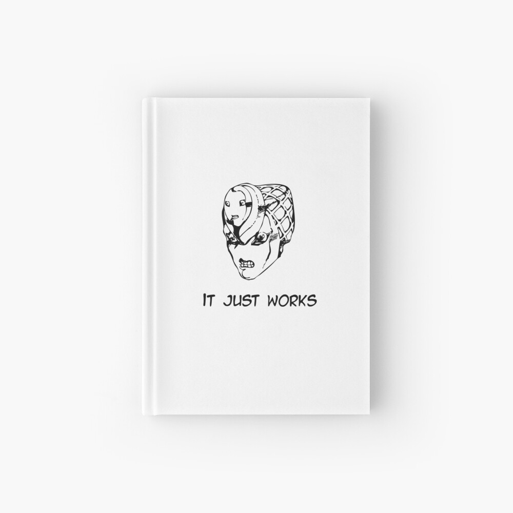 Jojo - It just works (Variant 2 Black) Hardcover Journal