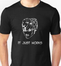 Camiseta ajustada Jojo - Simplemente funciona (variante 2 blanco)