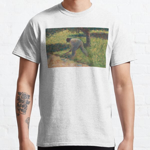Peasant with a Hoe Oil Painting by Georges Seurat Classic T-Shirt