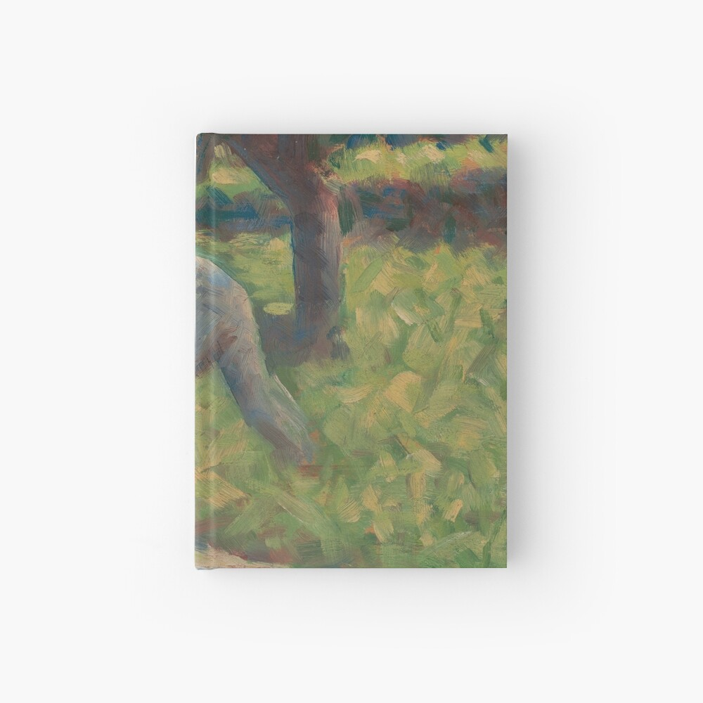 Peasant with a Hoe Oil Painting by Georges Seurat Hardcover Journal