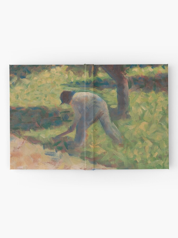 Alternate view of Peasant with a Hoe Oil Painting by Georges Seurat Hardcover Journal