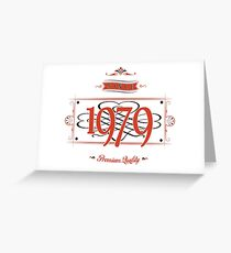 Since 1979 (Red&Black) Greeting Card