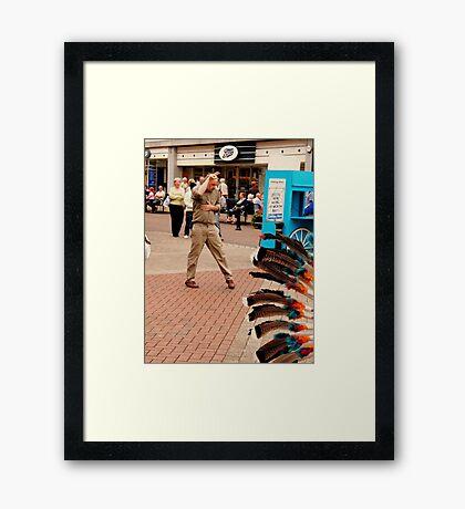 1,2,3,4 MAN.......... Scarborough Framed Print