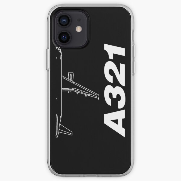 Airbus A321 Silhouette Top View iPhone Soft Case