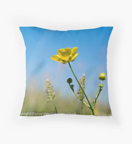 Buttercup from Meadow flower collection  Throw Pillow