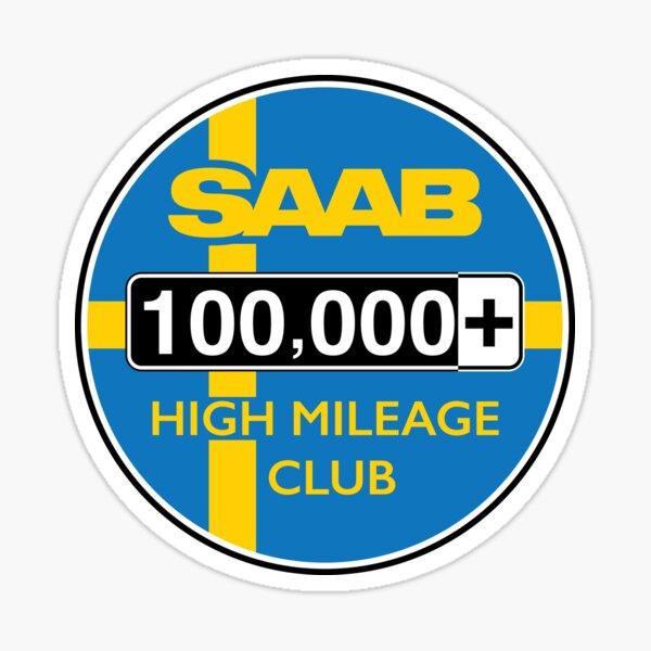 Saab High Mileage Club - 100,000+ Miles Sticker