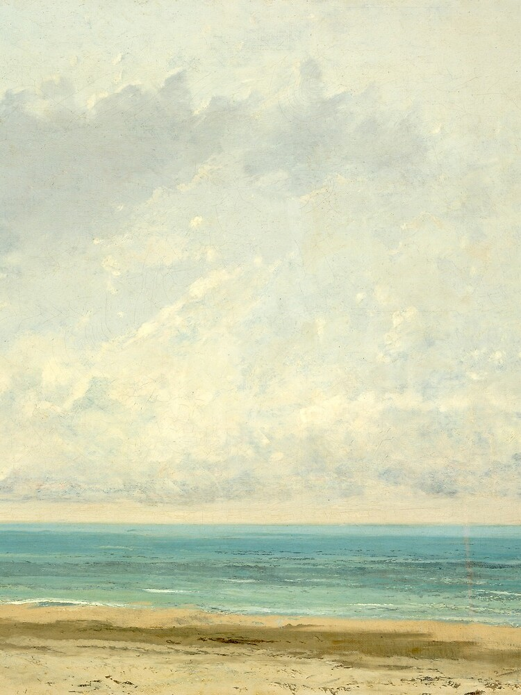Calm Sea Oil Painting by Gustave Courbet by podartist