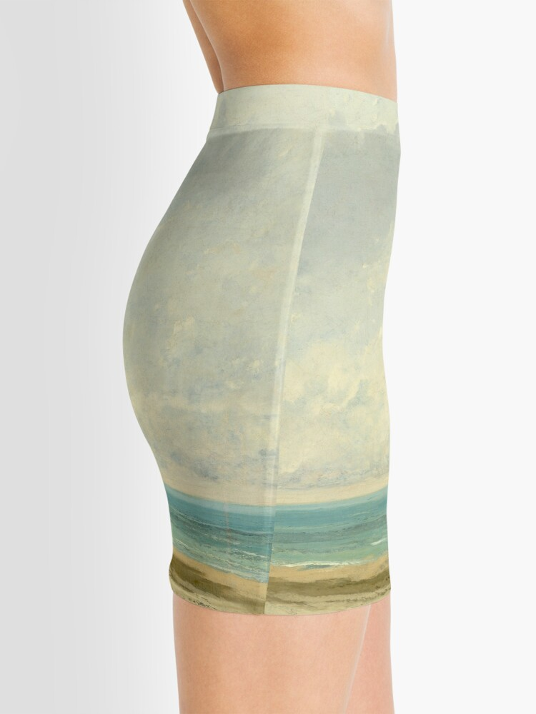 Alternate view of Calm Sea Oil Painting by Gustave Courbet Mini Skirt
