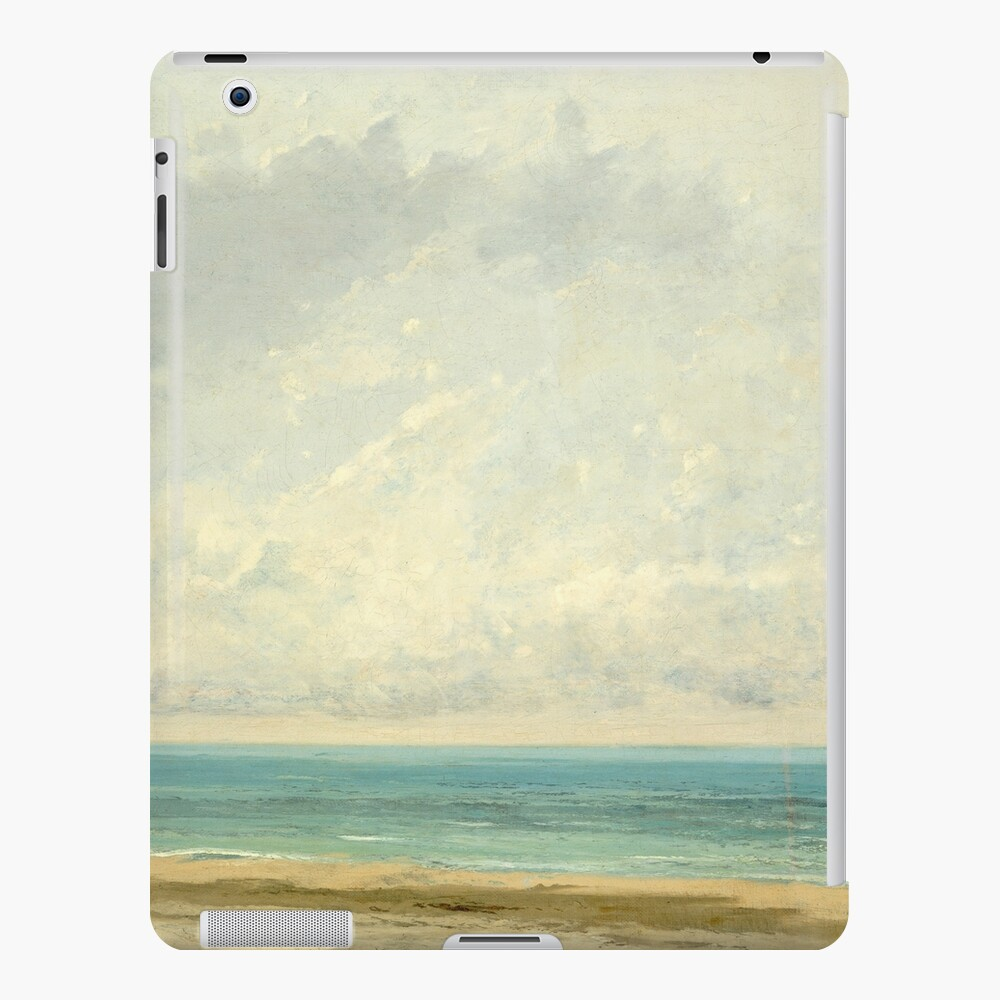 Calm Sea Oil Painting by Gustave Courbet iPad Case & Skin