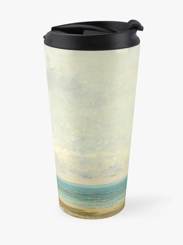 Alternate view of Calm Sea Oil Painting by Gustave Courbet Travel Mug