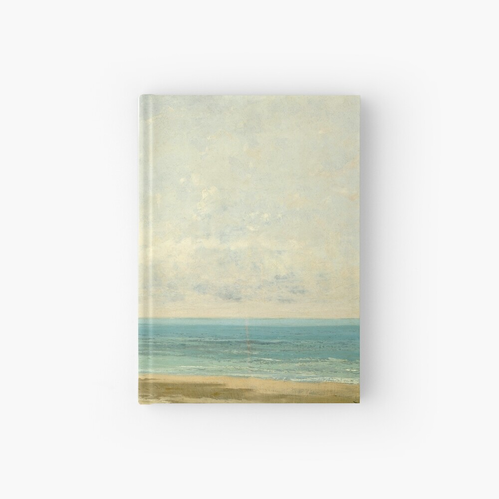 Calm Sea Oil Painting by Gustave Courbet Hardcover Journal