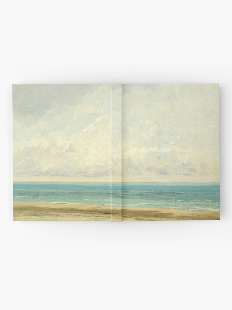 Alternate view of Calm Sea Oil Painting by Gustave Courbet Hardcover Journal