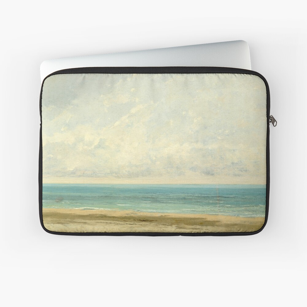 Calm Sea Oil Painting by Gustave Courbet Laptop Sleeve