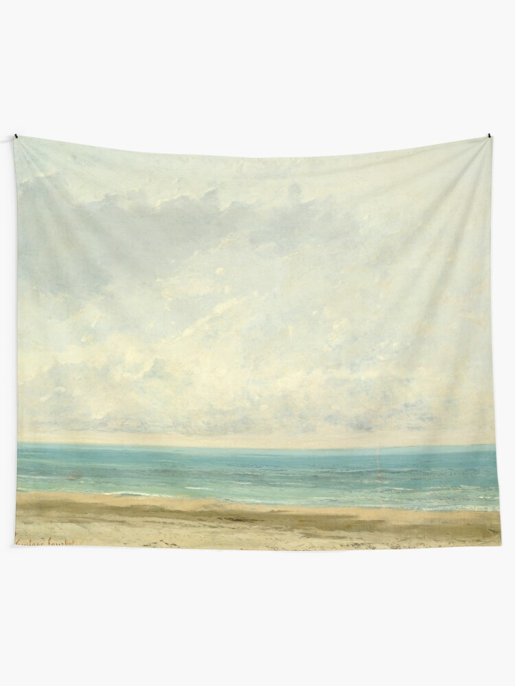 Alternate view of Calm Sea Oil Painting by Gustave Courbet Tapestry