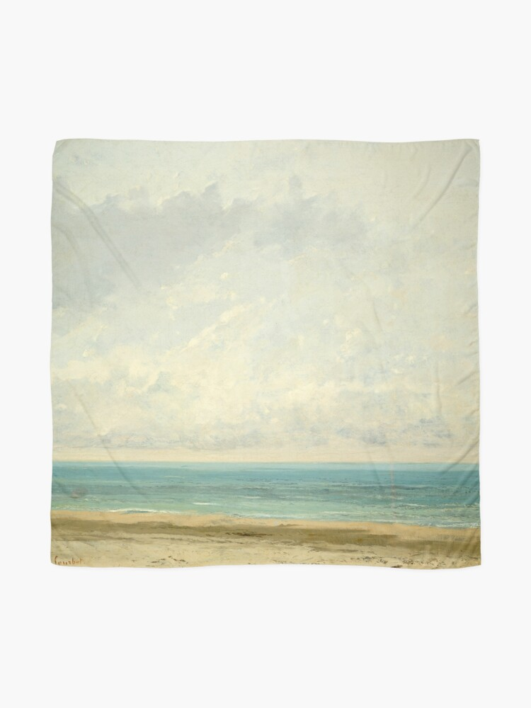 Alternate view of Calm Sea Oil Painting by Gustave Courbet Scarf