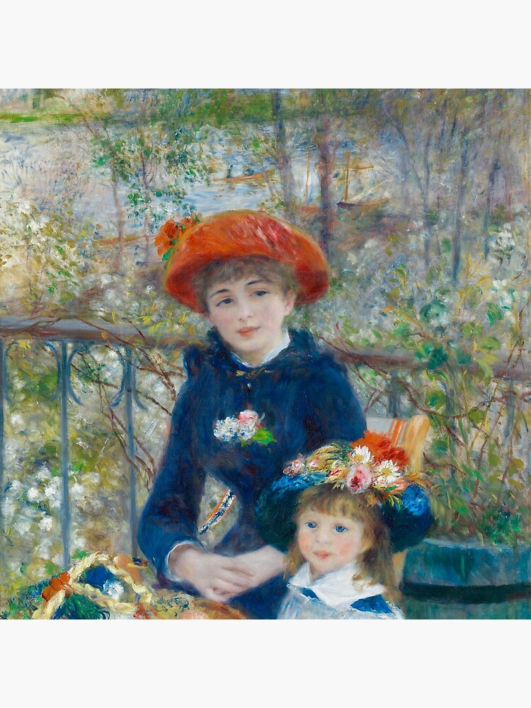Two Sisters on the Terrace Oil Painting by Auguste Renoir by podartist