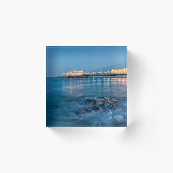 Worthing Pier Blue Hour Acrylic Block
