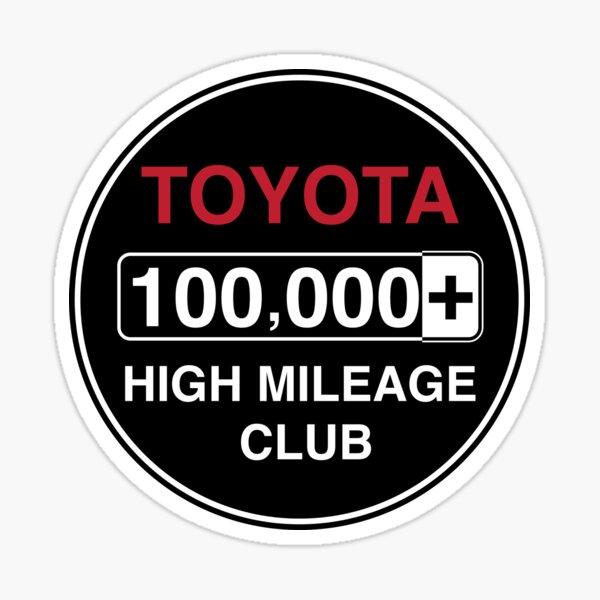 Toyota High Mileage Club - 100,000+ Miles Sticker