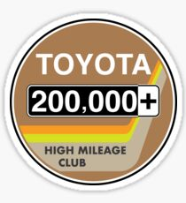 Toyota High Mileage Club - 200,000+ Miles Sticker