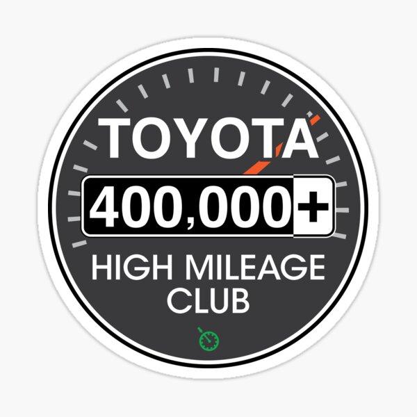 Toyota High Mileage Club - 400,000+ Miles Sticker