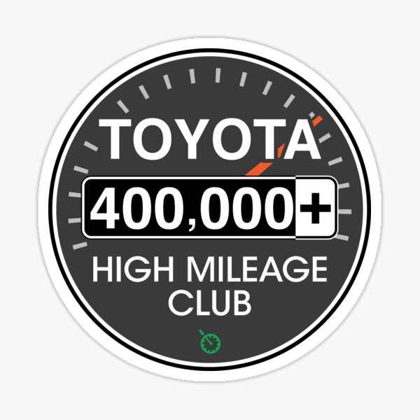 Toyota High Mileage Club - 400,000+ Miles Sticker
