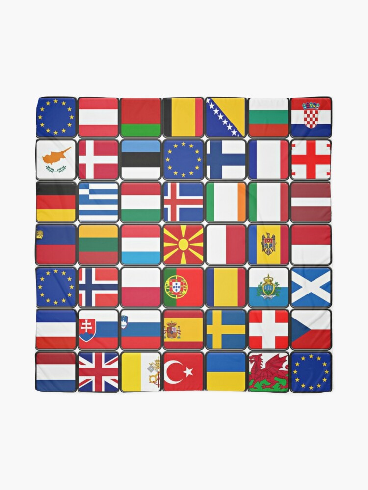 Alternate view of International Flag Collage Scarf