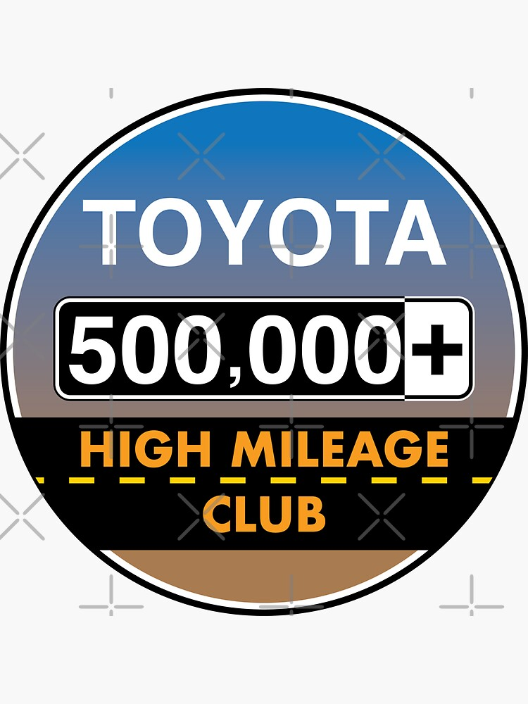 Toyota High Mileage Club - 500,000+ Miles by brainthought