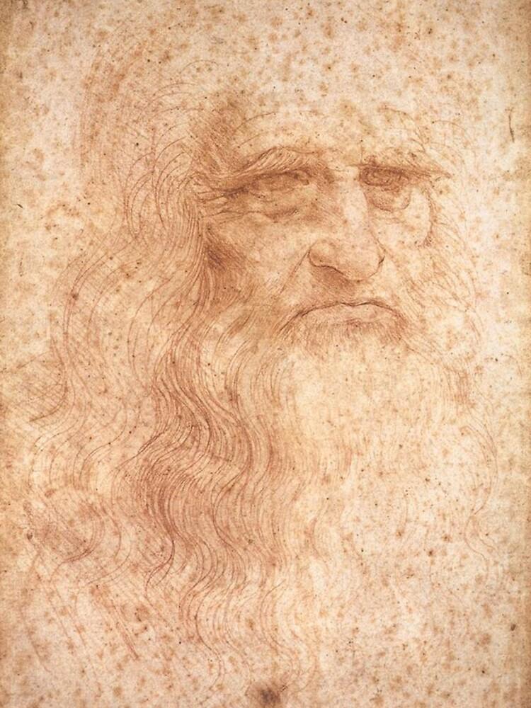Classic Art - Leonardo da Vinci by Leonardo da Vinci Self Portrait by podartist