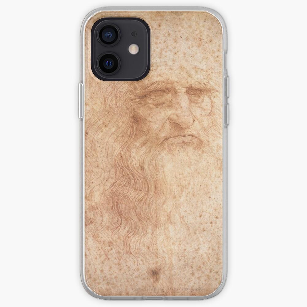 Classic Art - Leonardo da Vinci by Leonardo da Vinci Self Portrait iPhone Case & Cover
