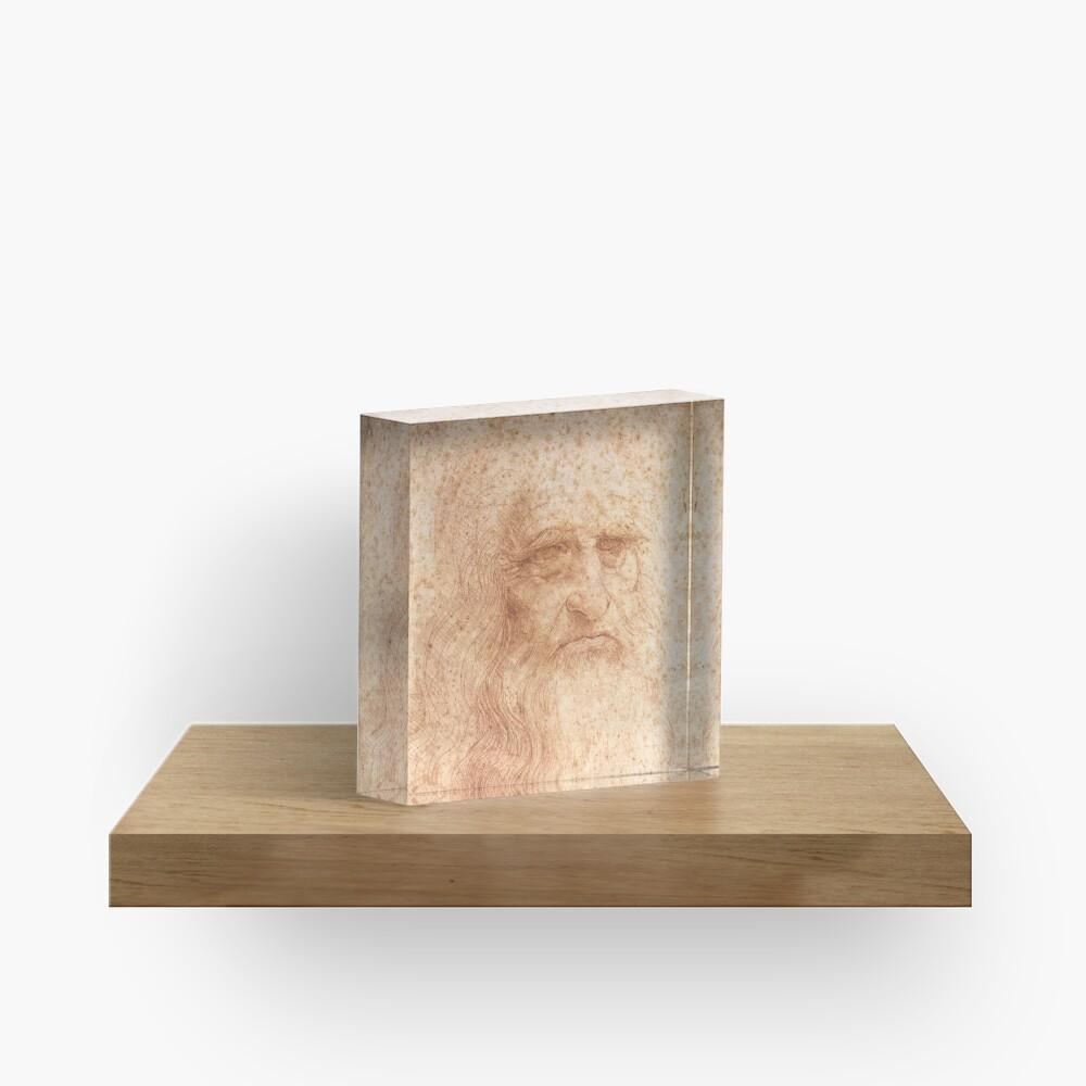 Classic Art - Leonardo da Vinci by Leonardo da Vinci Self Portrait Acrylic Block