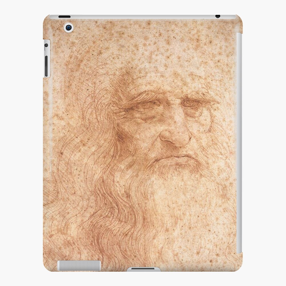 Classic Art - Leonardo da Vinci by Leonardo da Vinci Self Portrait iPad Case & Skin