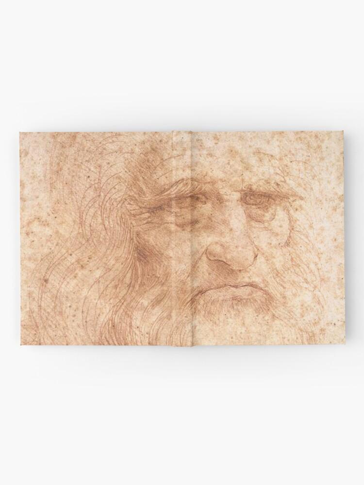 Alternate view of Classic Art - Leonardo da Vinci by Leonardo da Vinci Self Portrait Hardcover Journal