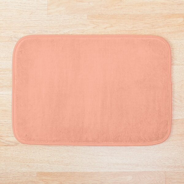 Peach Solid Color Bath Mat