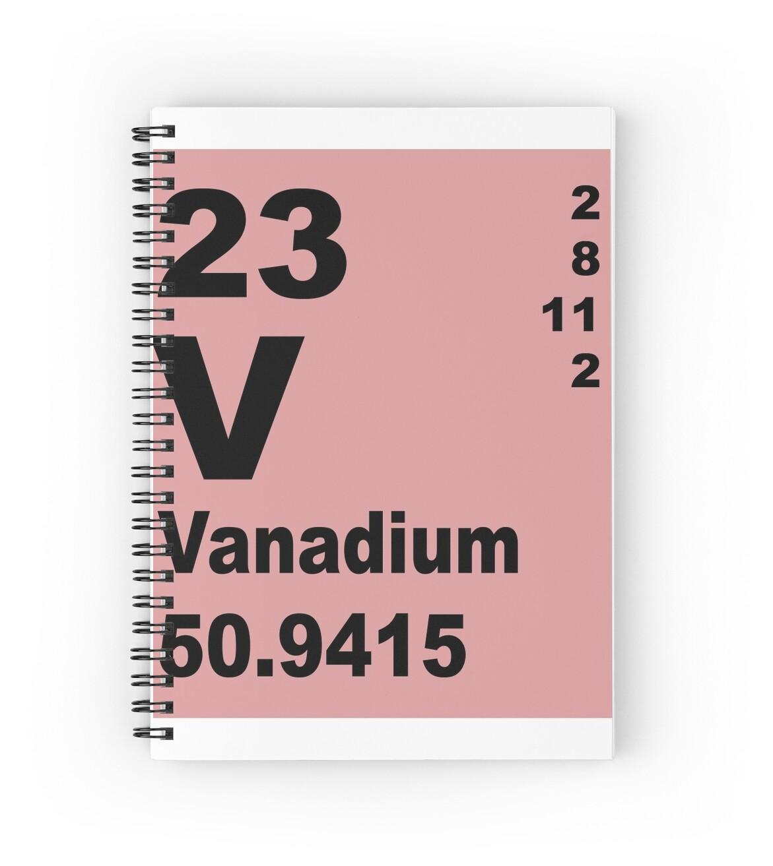 Cuadernos de espiral tabla peridica de elementos de vanadio de tabla peridica de elementos de vanadio de walterericsy urtaz Image collections