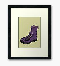 Give 'Em the Boot Framed Print