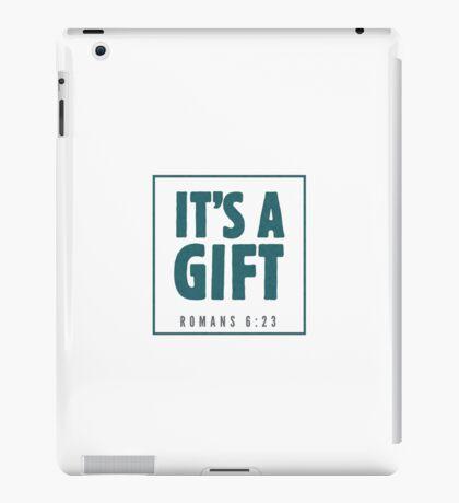 It's a gift - Romans 6:23 iPad Case/Skin