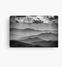 Smoke on the Mountains Canvas Print