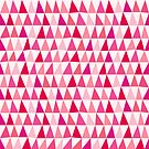 Pink Geometric Abstract Triangle Pattern by Nic Squirrell