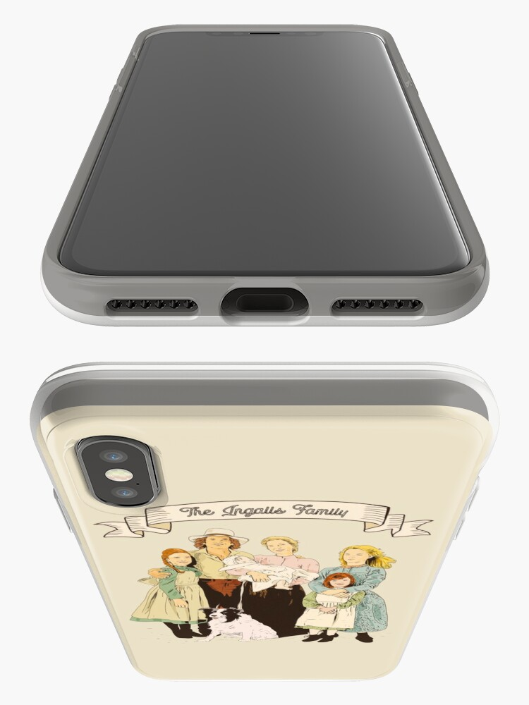 Alternate view of colored The Ingalls family in the Little house on the prairie iPhone Case & Cover