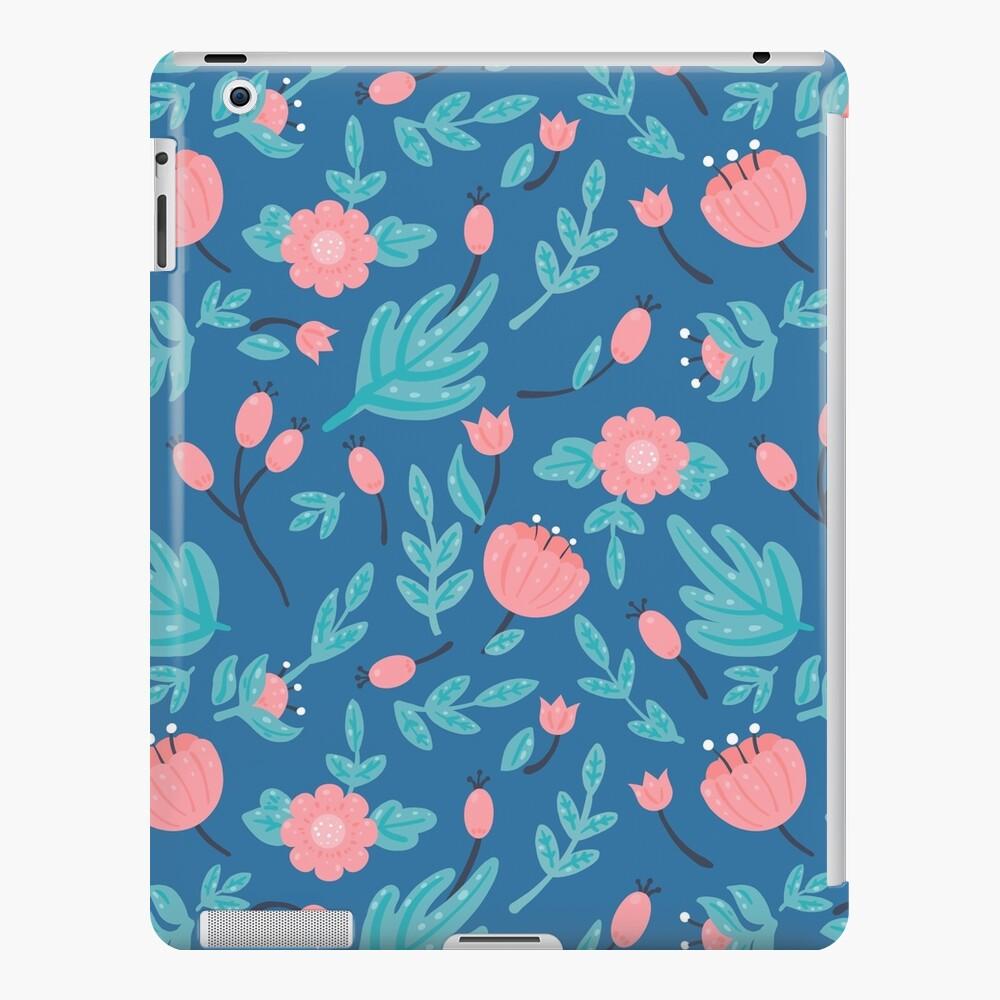 Blue florals iPad Case & Skin