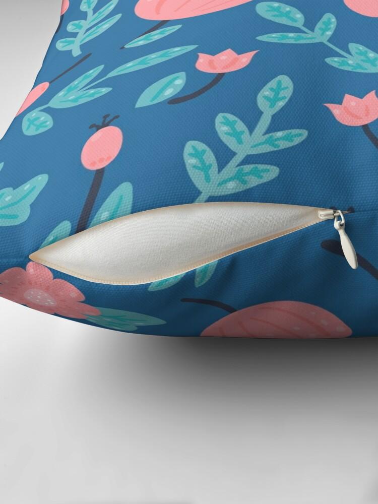Alternate view of Blue florals Throw Pillow