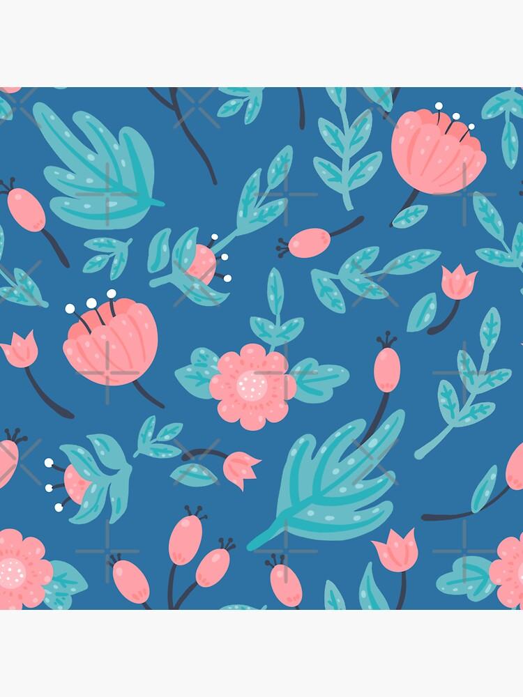 Blue florals by Elenanaylor