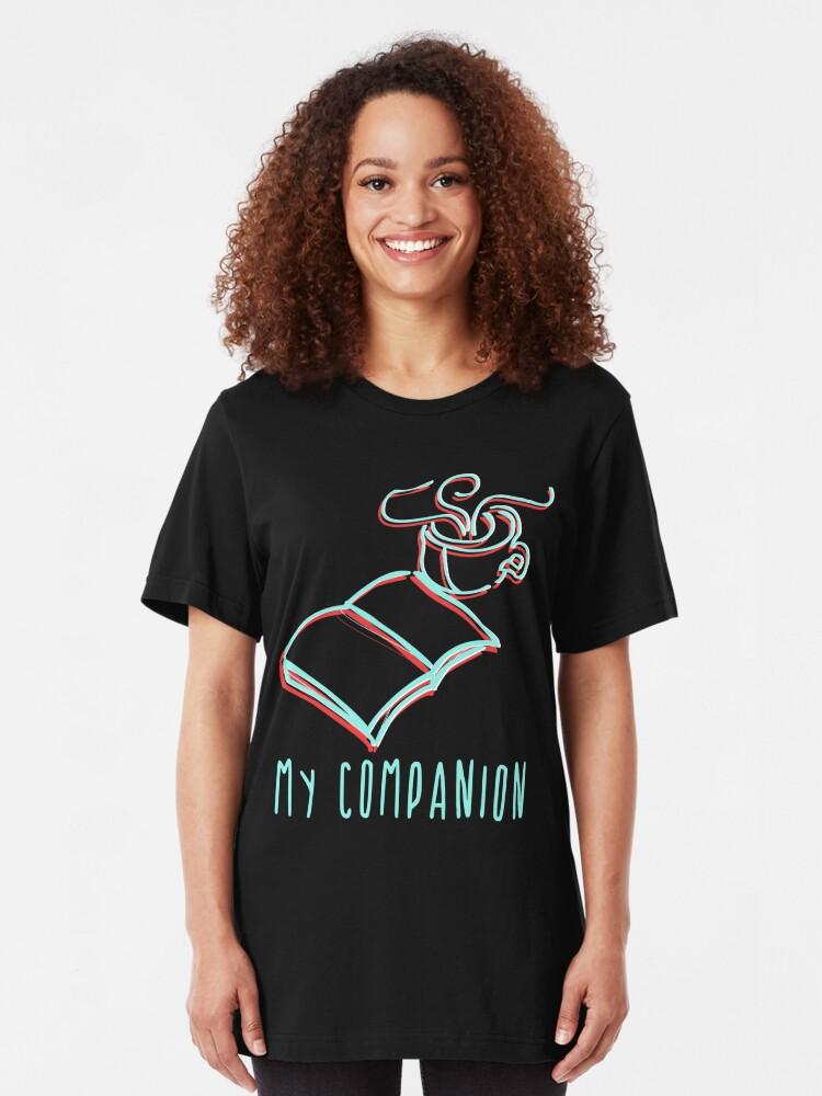 Ich Liebe Kaffee U Bücher Coole Lustige Sprüche T Shirt Design Kaffeetasse Buch Slim Fit T Shirt